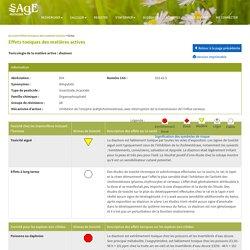 SAGEPESTICIDES_QC_CA 20/06/18 Effets toxiques des matières actives: Diazinon