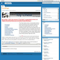 toychest [licensed for non-commercial use only] / FrontPage
