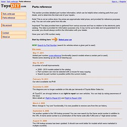 Online Toyota, Lexus and Scion Parts Catalog
