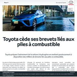 Toyota cède ses brevets liés aux piles à combustible
