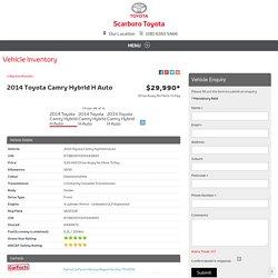 2014 Toyota Camry Hybrid H Auto - Scarboro Toyota