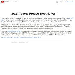 2021 Toyota Proace Electric Van — Teletype