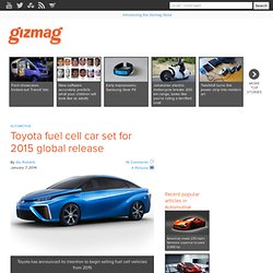 Toyota fuel cell car set for 2015 global release