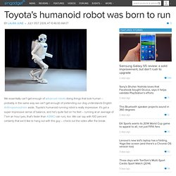 Toyota's humanoid robot was born to run