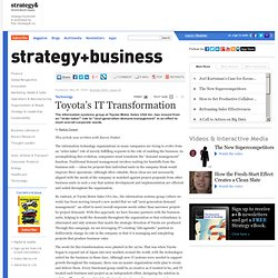 Toyota's IT Transformation