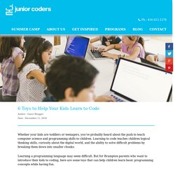 Coding For Kids - juniorcoders.ca
