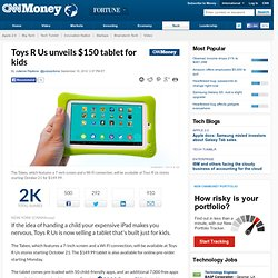 Toys R Us unveils $150 Tabeo tablet for kids - Sep. 10