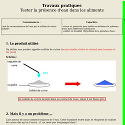TP : Tester la présence d'eau