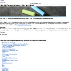 TPACK iPads In Schools Project App Guide