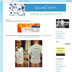 TPcraft.com: I Spy Book Costume {Fantastic Fall Crafts & More}