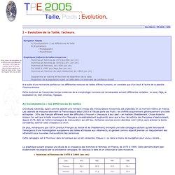 TPE 2005 : Evolution de la Taille