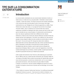 TPE SUR LA CONSOMMATION OSTENTATOIRE