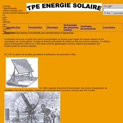 Etudiant - Historique des panneaux solaires