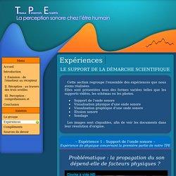TPE sur le son : expériences