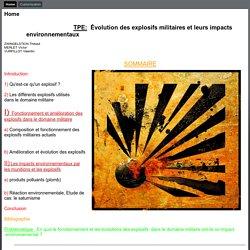 TPE Explosifs militaires
