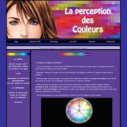 TPE : La perception des couleurs