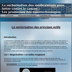 TPE - Les Nanotechnologies contre le cancer