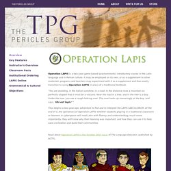 TPG : The Pericles Group