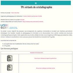 TPs virtuels de cristallographie -