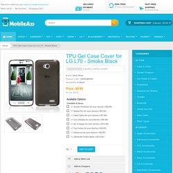 TPU Gel Case Cover for LG L70 - Smoke Black