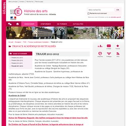 TRAAM 2011-2012-Histoire des arts-Éduscol
