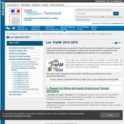 Les TraAM 2014-2015 — Technologie au collège