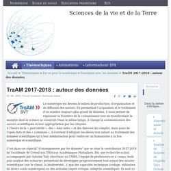 TraAM 2017-2018 : autour des données
