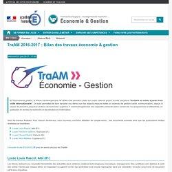 TraAM 2016-2017 : travaux économie & gestion