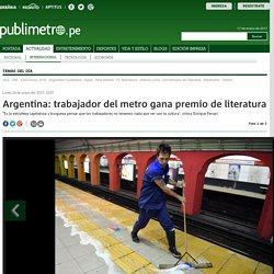 Argentina: trabajador del metro gana premio de literatura