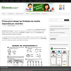 Fichas para trabajar las Unidades de medida Capacidad por José Boo -Orientacion Andujar