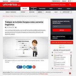 Trabajar en la Unión Europea como corrector lingüístico