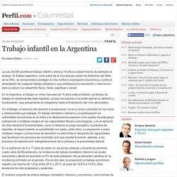 Trabajo infantil en la Argentina