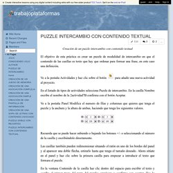 trabajoplataformas - PUZZLE INTERCAMBIO CON CONTENIDO TEXTUAL