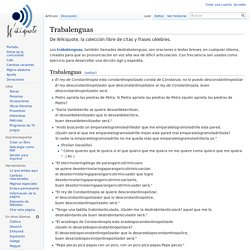 Trabalenguas - Wikiquote