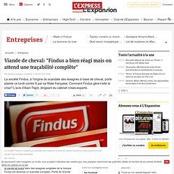 """Viande de cheval: """"Findus a bien réagi mais on attend une traçabilité complète"""""""