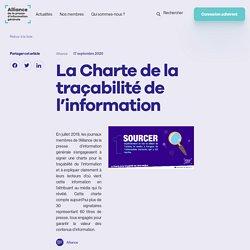La Charte de la traçabilité de l'information - Alliance Presse