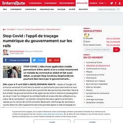 Stop Covid: l'appli de traçage numériquedu gouvernement sur les rails