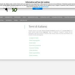 Tracce di temi di italiano per la scuola media e superiore