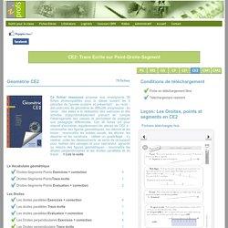 CE2: Trace écrite POINT-SEGMENT-DROITE