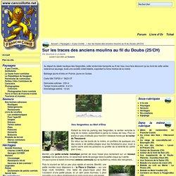 Sur les traces des anciens moulins au fil du Doubs (25/CH)