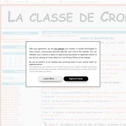 Traces écrites géographie CM2 - La classe de Crol