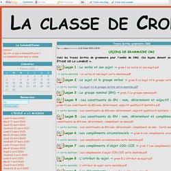Traces écrites grammaire CM2