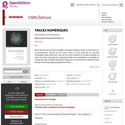 Traces numériques - CNRS Éditions