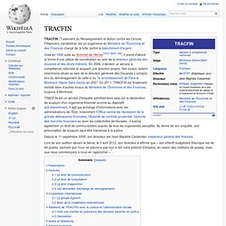 TRACFIN Wikipédia