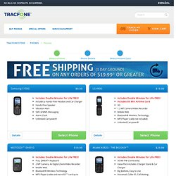 Tracfone Site Phone List page