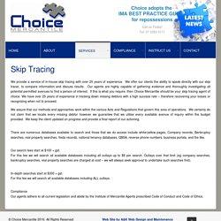 Skip Tracing Service Brisbane QLD