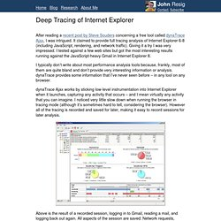 Deep Tracing of Internet Explorer