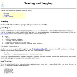 Java Linux => Tracing and Logging