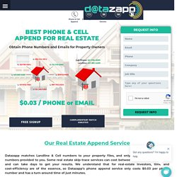 Real Estate Skip tracing, Real Estate Wholesalers, Property Owner data with cell, email, phone