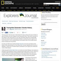 Tracing New Zealanders' Genetic History